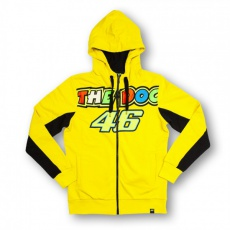 Dámská mikina Valentino Rossi VR46 DOC Fleece žlutá 153701