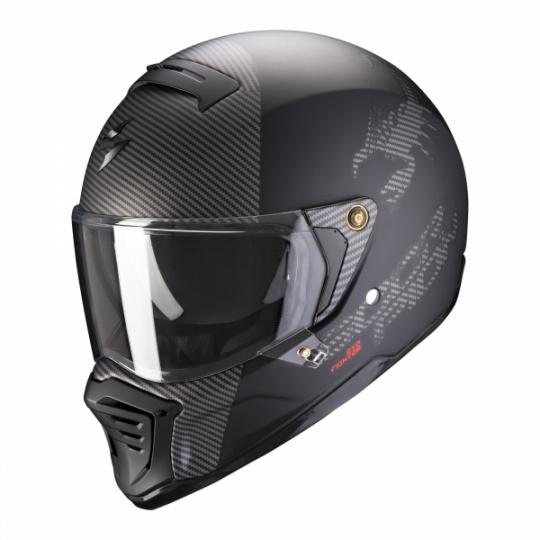 Moto přilba SCORPION EXO-HX1 HOSTIUM matná černo/stříbrná