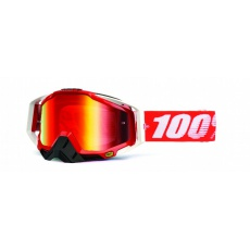 RACECRAFT Goggle Fire Red - Mirror Red Lens