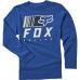Dětské triko Fox Youth Overkill Ls Tee Royal Blue