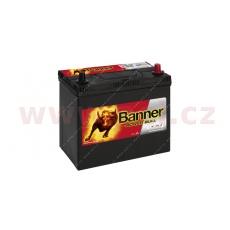 45Ah baterie, 390A, pravá, úzké póly BANNER Power Bull 238x129x203(225)