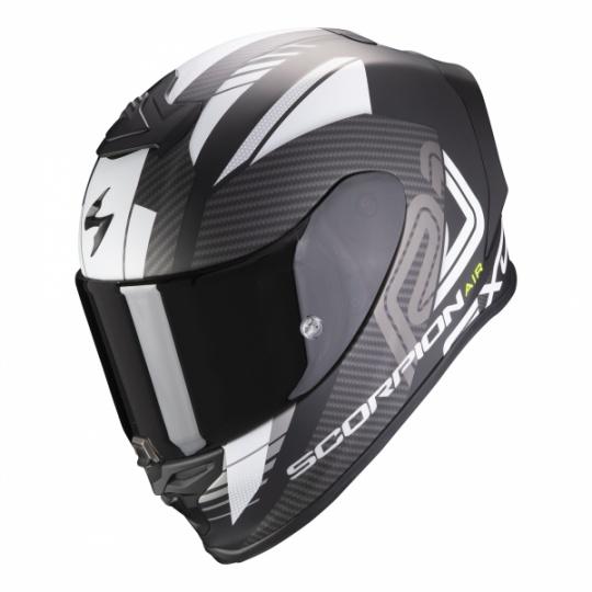 Moto přilba SCORPION EXO-R1 AIR HALLEY matná černo/bílá