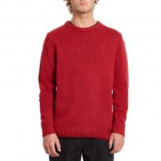 Pánský svetr Volcom Edmonder Sweater Rio Red