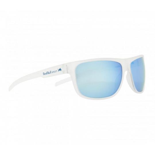 sluneční brýle RED BULL SPECT Sun glasses, LOOM-007P, matt blue rubber, smoke with blue mirror POL, CAT3, 62-14-127