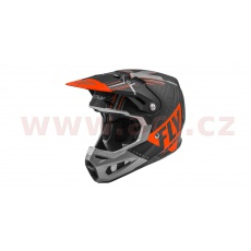 přilba FORMULA VECTOR, FLY RACING (matná/oranžová/šedá/černá)
