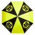 Skládací deštník Valentino Rossi VR46 černá/žlutá fluo