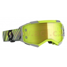 brýle FURY, SCOTT (žlutá/šedá, žluté chrom, plexi s čepy pro slidy)