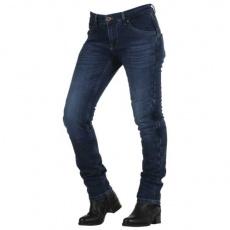 Dámské kevlarové moto kalhoty OVERLAP CITY LADY SMALT JEANS modré