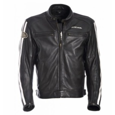 Moto bunda RICHA RETRO RACING černá kožená - nadměrná velikost