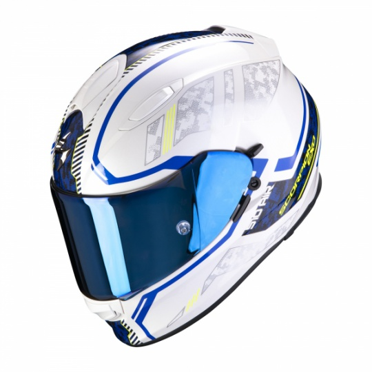 Moto přilba SCORPION EXO-510 AIR OCCULTA bílo/modrá