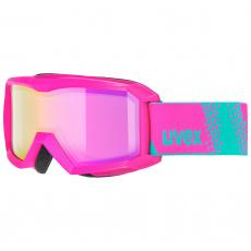 lyžařské brýle UVEX FLIZZ FM, pink dl/pink clear-rose (9030)