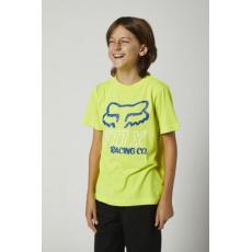 Dětské triko Fox Youth Hightail SS Tee Fluo Yellow