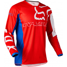 Pánský MX dres Fox 180 Skew Jersey White/Red/Blue