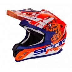 Moto přilba SCORPION VX-15 EVO AIR KISTUNE oranžovo/modro/bílá