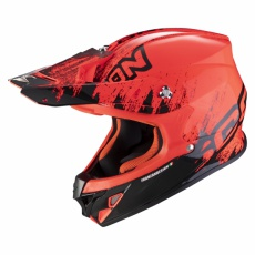 Moto přilba SCORPION VX-21 AIR MUDIRT černo/neonově červená