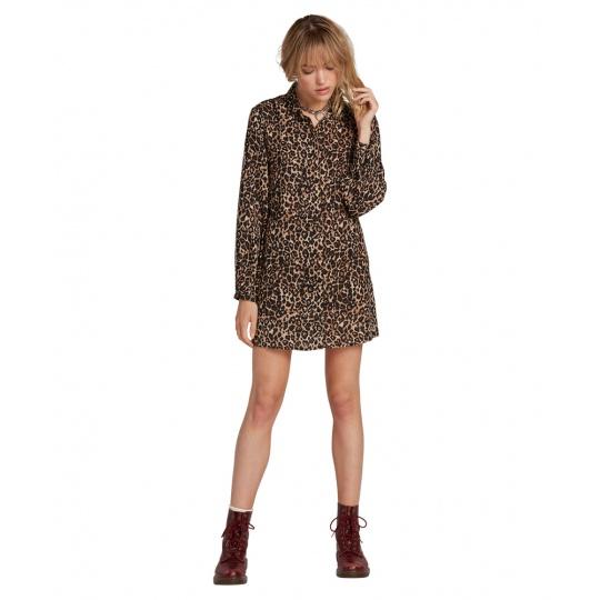 Dámské šaty Volcom Fad Friend Dress Animal Print