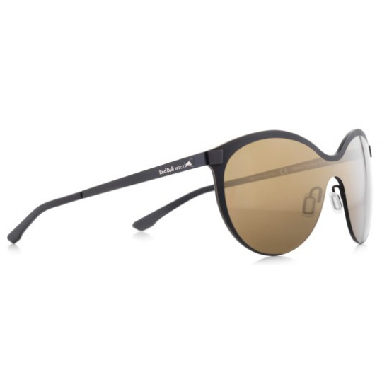 sluneční brýle RED BULL SPECT Sun glasses, GRAVITY3-006, black, black, brown with gold mirror, 128-135
