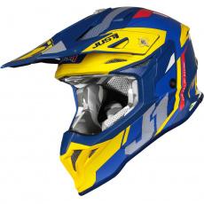 Moto přilba JUST1 J39 REACTOR matná žluto/modrá