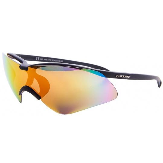 sluneční brýle BLIZZARD sun glasses PC4061120, rubber black, case + spare lens, 139-30-136