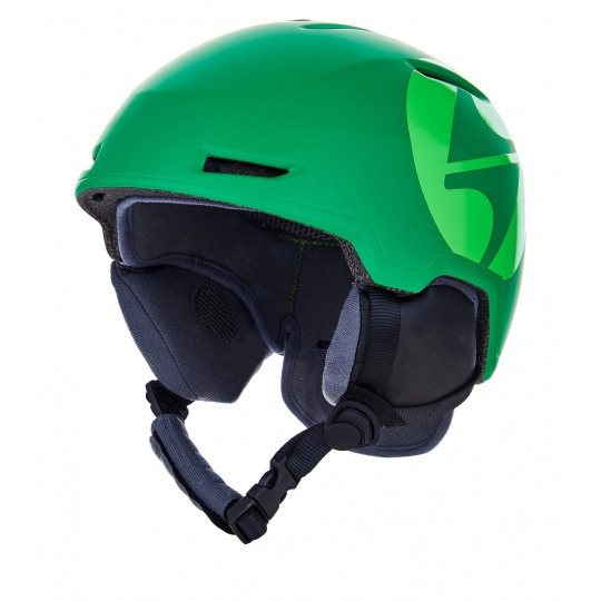 helma BLIZZARD Viper ski helmet junior, dark green matt/bright green matt