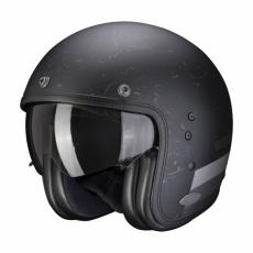 Moto přilba SCORPION BELFAST SHIFT matná černo/stříbrná